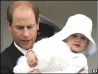 Prince Edward and daughter Louise