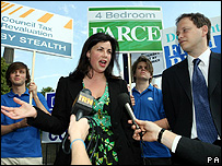 Kirstie Allsopp and Conservative housing spokesman Grant Shapps