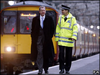 Tom Harris MP and BTP Chief Constable Ian Johnston
