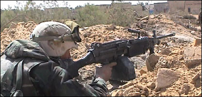 US soldier in Nasiriya in the first days of the 2003 invasion