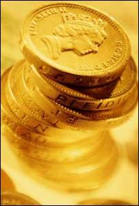 A pile of pound coins, BBC/Corbis