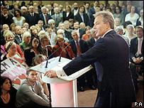 Tony Blair in Sedgefield