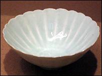 Porcelain bowl recovered from Nanhai 1