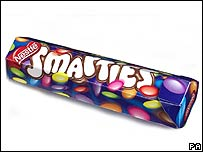 Smarties tube