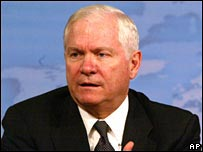 Defence Secretary Robert Gate at a news conference at the Pentagon on Friday 21 December 2007