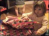 Madeleine McCann pictured at Christmas 2006