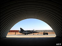 A French Mirage 2000 D jet stationed in Kandahar