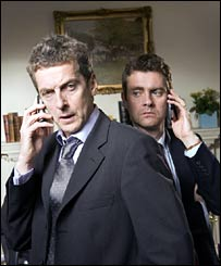 Peter Capaldi and Paul Higgins in The Thick of It