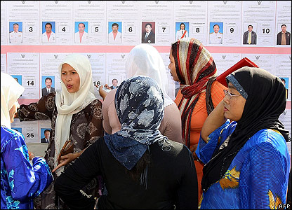 Muslim voters in Naratiwat Province