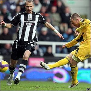Kenny Miller fires in Derby's second in the 52nd minute