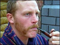 A Royal Marine with competition facial hair