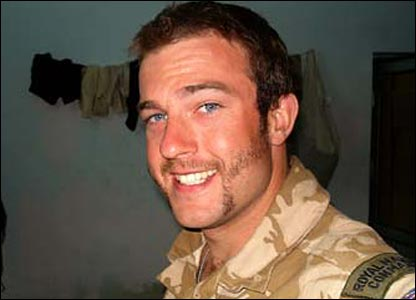 A Royal Marine sporting facial hair