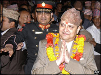 Nepal's King Gyanendra (file photo)