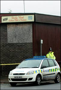 Police at Derby Ward Labour Club (pic: MEN Syndication)