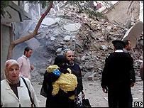 Collapsed building, Alexandria