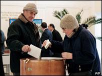 Voters cast their ballots in Tashkent, Uzbekistan