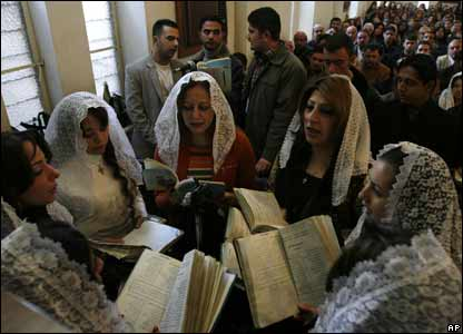 Iraqi Christians attend Christmas mass in Baghdad, Iraq