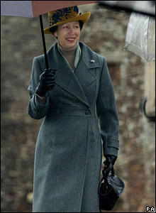Princess Anne, Christmas Day 2007