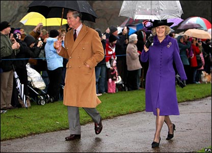 Prince Charles and the Duchess of Cornwall, Christmas Day 2007