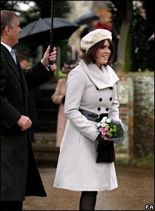 Prince Andrew and Princess Eugenie, Christmas Day 2007