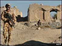 British soldier in Helmand