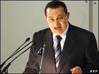File pic of Hosni Mubarak