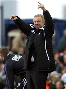 Birmingham manager Alex McLeish on the sidelines at St Andrews