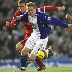 Mikael Forssell shrugs off a challenge