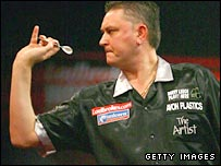 Kevin Painter in action at Alexandra Palace