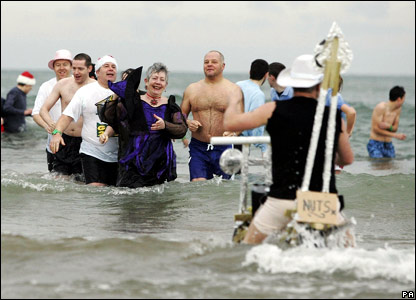 Smiles were broad as some people began to escape the water, as others struggled to still get in