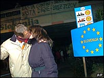 Slovenia's border with Italy