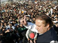 Nawaz Sharif campaigning, 26 December