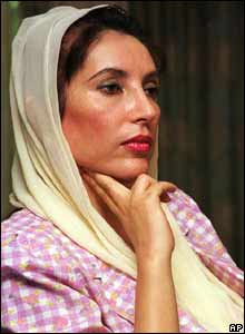 Benazir Bhutto in 1998 in Islamabad