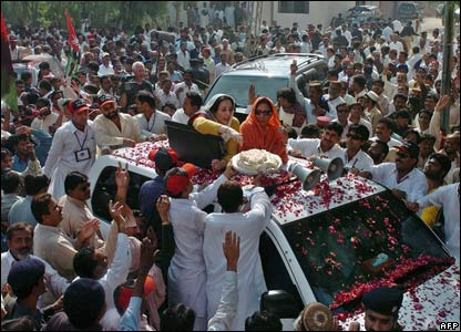 Benazir Bhutto in Larkana, 26 November 2007