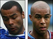 Ashley Cole and Zat Knight