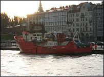 Survey vessel in Helsinki