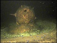 Old naval mine