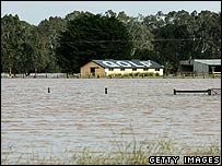 Flooding in Gippsland region of eastern Victoria