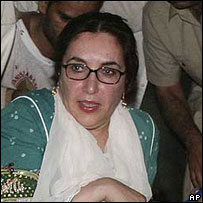 Ms Bhutto, Karachi, October 2007