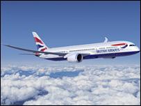 BA branded Boeing Dreamliner