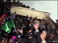 Benazir Bhutto's coffin leaves hospital in Rawalpindi