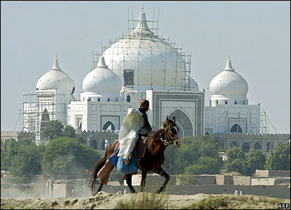 The Bhutto family mausoleum in the village of Ghari Khuda Baksh, Larkana (image from October 2007)