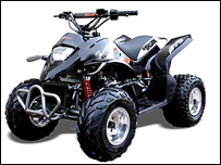 A Pro-Shark Qaudzilla quad bike