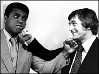 Muhammad Ali and Michael Parkinson in 1974
