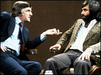 Michael Parkinson and George Best in 1975