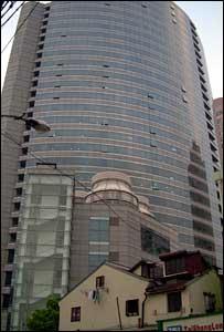 Edificio moderno en Shangai