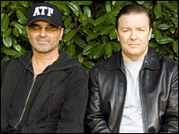 George Michael and Ricky Gervais on Extras