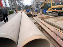 Building work in Timisoara