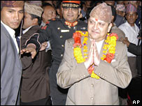 Gyanendra at ceremony