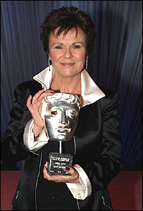 Julie Walters with her lifetime achievement Bafta award